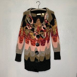 Anthropologie sleeping on snow statement cardigan